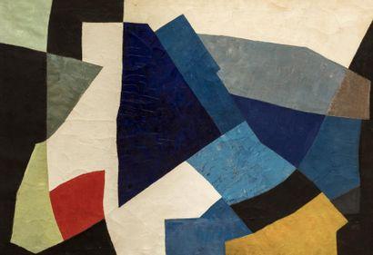 André BLOC (1896-1966)  Le carré bleu, 1955...