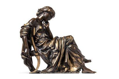 Mathurin MOREAU (1822 - 1912)  Bronze à patine...