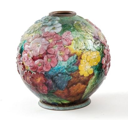 Camille FAURE (1874 - 1956)  Vase ovoïde...