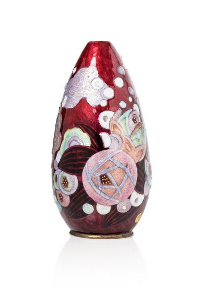 Camille FAURÉ (1874 - 1956)  Vase en cuivre...