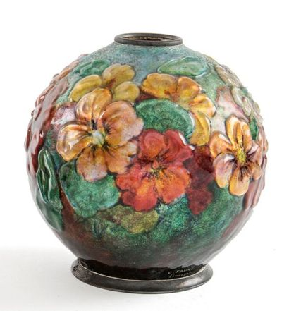Camille FAURE (1874 - 1956)  Vase de forme...