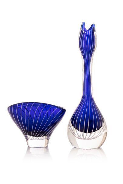 Travail Scandinave  circa 1950  vase et coupe...