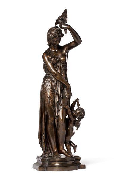 Travail 1900  Sculpture en bronze à patine...