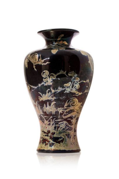 Jérôme MASSIER (1850 - 1926)  Vase de forme...