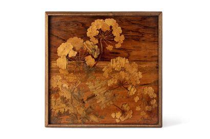 Emile GALLE (1846 - 1904)  Plateau carré...