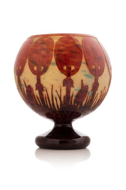 Le Verre Français  circa 1925  Vase en verre...