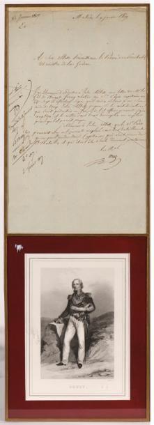 SOULT (Maréchal) & BERTHIER (Maréchal). Lettre...