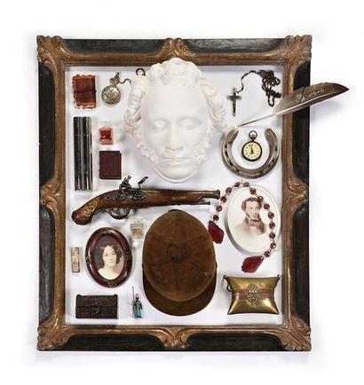 Lot à thématique d'Alexandre Pouchkine comprenant...