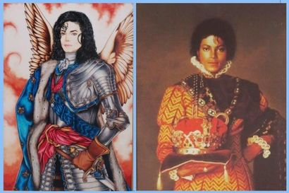Deux reproductions encadrées représentant...