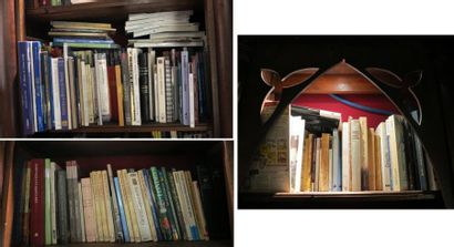 Lot d'environ 160 volumes  dont guides littéraires et guides de voyages et volumes...