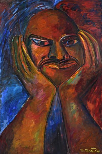 Martine MARTINE (Né en 1932) Portrait de...