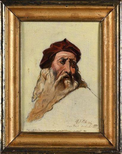 D'après Paul DELAROCHE  Portrait de Léonard...