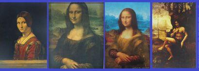 Lot de quatre reproductions de La Joconde...