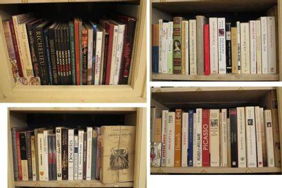 Environ 120 volumes cartonnés modernes (Histoire, art, André Castellot, Descartes,...