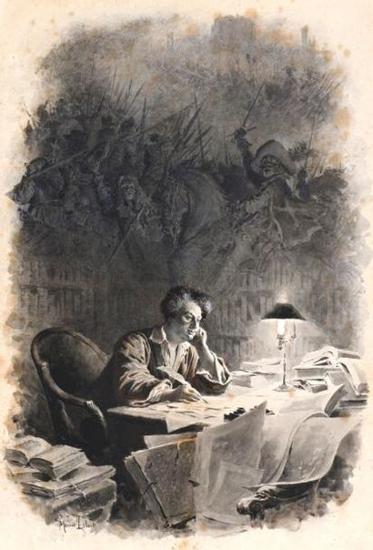 Maurice LELOIR (Paris 1853 – 1940)  Alexandre...
