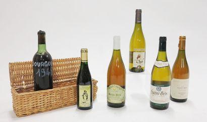 Lot de bouteilles de vin comprenant:  - Appellation...