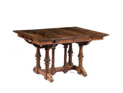 Table en bois naturel à plateau rectangulaire...