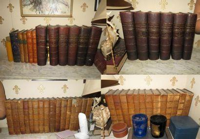 47 volumes reliés 19e dont histoire générale de LAVISSE et Walter Scott