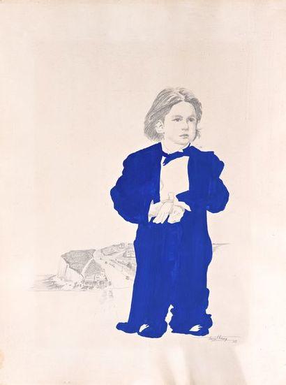 Pascal LECOCQ  Portrait de Gonzague  Crayon...