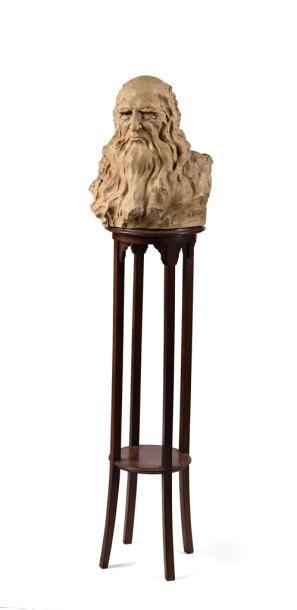 Cyril de LA PATELLIERE  Buste en plâtre représentant...