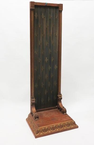 Dossier et dais de chaise cathèdre en bois...
