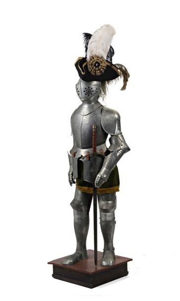 Reproduction d'armure en métal à l'imitation...