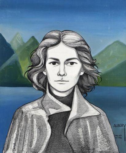 ALBERY (Actif au XXème siècle )  Portrait...