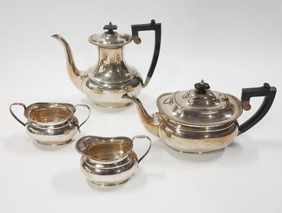Service à thé et café en métal argenté anglais...