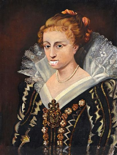 Portrait présumé de Mary Stuart  Huile sur...