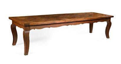 Table de monastère en chêne, le plateau à...