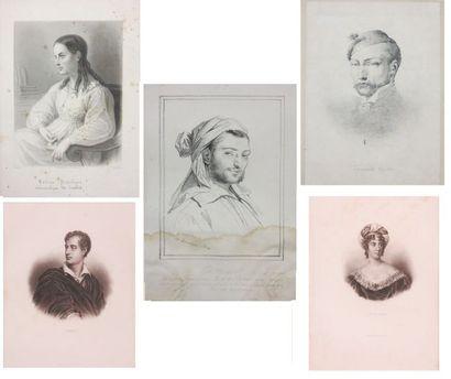 Lot de reproductions représentant les portraits...
