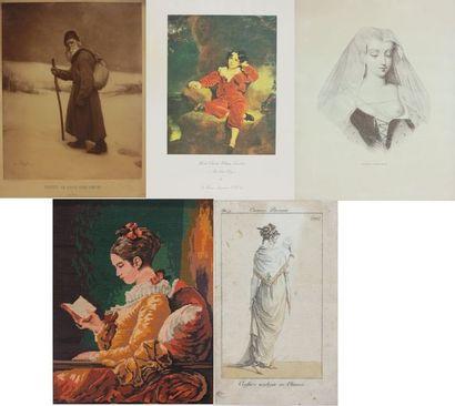 Lot de reproductions :