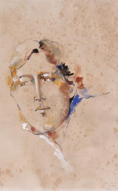 ANONYME,  Portrait présumé d'Oscar Wilde...