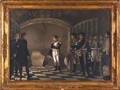 Reproduction en couleur représentant Napoléon...