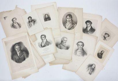 Réunion de Portraits d'artistes : Bertin,...