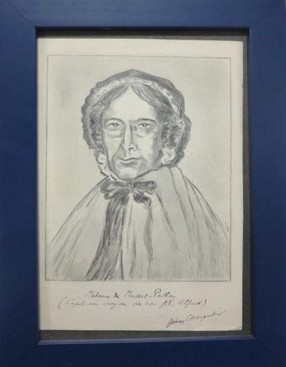 John CHARPENTIER  Portrait de Mme de Musset-Pathay....