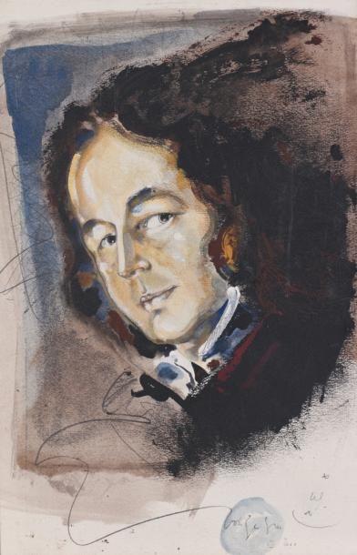 Ecole française du XXe  Portrait de Gonzague...