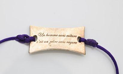 Médaillon en argent 925°/°° portant l'inscription...