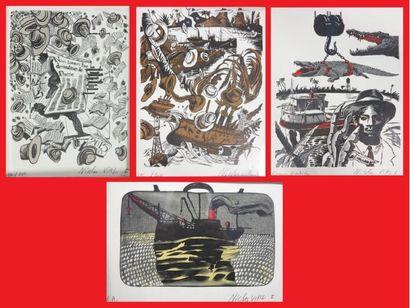 Nicolas VIAL, lot de quatre lithographies...