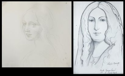 Lot comprenant:  - Nazario COCCA, portrait...