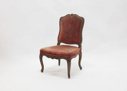 Chaise en bois naturel à dossier à la reine....