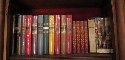 Ensemble d'environ 20 volumes collection 'génies et réalités' en cartonnage éditeur,...