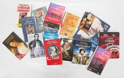 Lot de livres écrits par Gonzague Saint Bris...