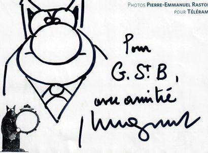 GELUCK (Philippe). Dessin original du Chat...
