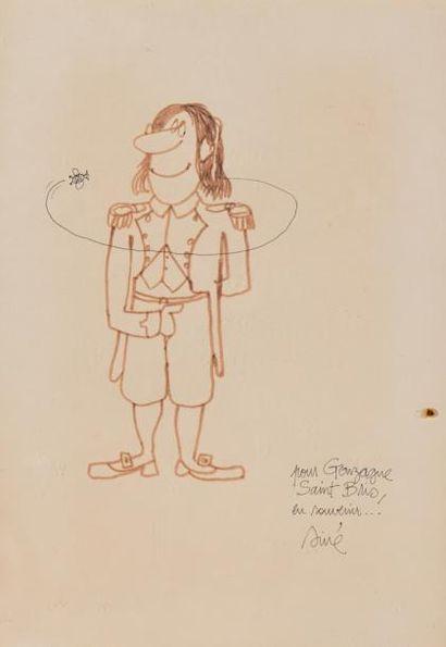 SINÉ (Maurice Sinet, dit). Portrait de Gonzague...
