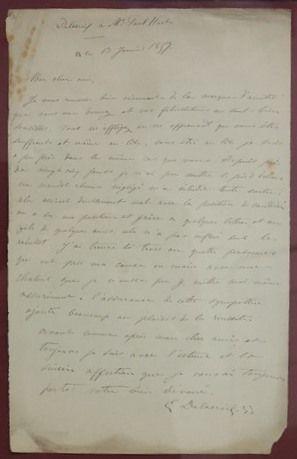 [DELACROIX (Eugène)]. Copie manuscrite (XIXe...
