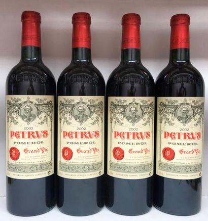 4 bouteilles PETRUS, Pomerol 2002