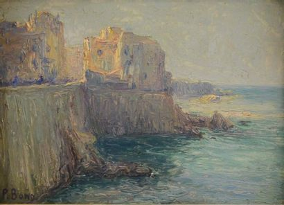 Primitif BONO (1880-1955)  Bord de mer, Alger...