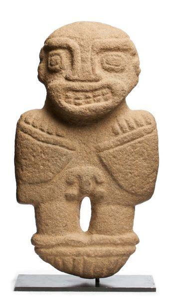 Idole anthropomorphe présentant une divinité...