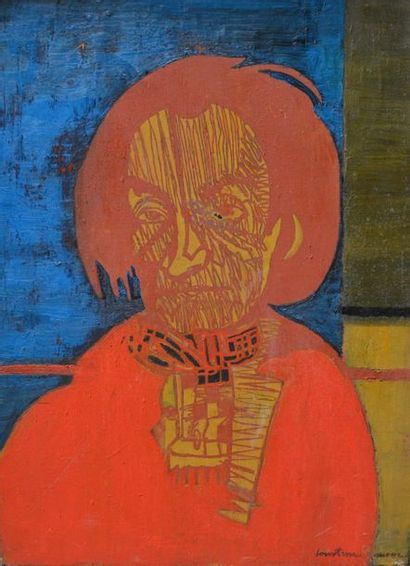 Pierre COURTENS, dit SUROS (1921-2004)  Portrait...